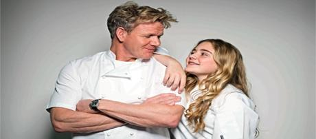 Matilda Ramsay and her father Gordon Ramsay