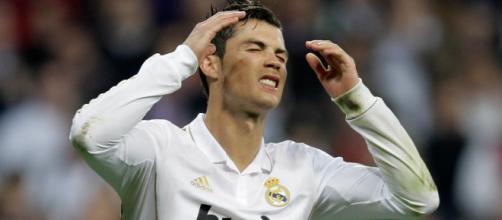 A infelicidade de Ronaldo é notória.