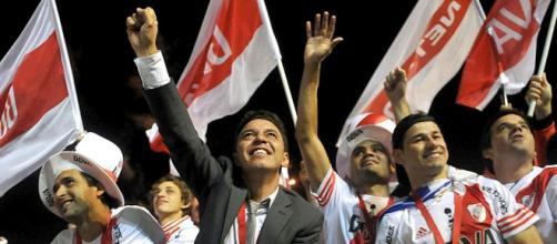 El festejo de la copa Sudamericana 2014