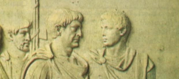 Dettaglio della Colonna Traiana a Roma
