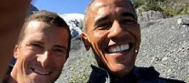 Grylls and Pres. Obama take the requisite selfie