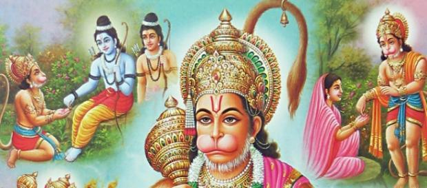 Hanuman è il dio Scimmia, servitore di Rama