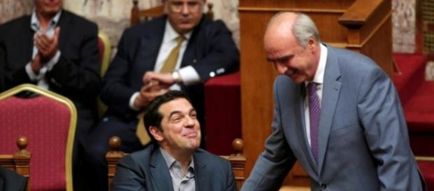 Tisipras e Meimarakis, grande coalizione in vista