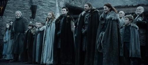 La familia Stark en Invernalia