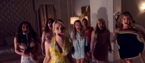 Scream Queens Emma Roberts and Lea Michele