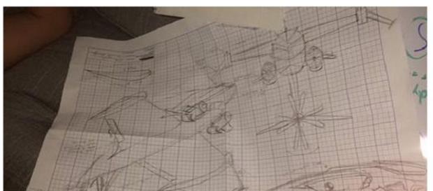 planos del supuesto diseño del avión