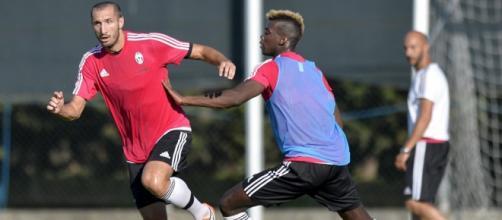 La Juventus di Allegri in allenamento