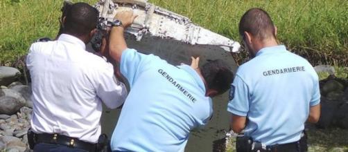 Restos del avión hallados en la isla francesa