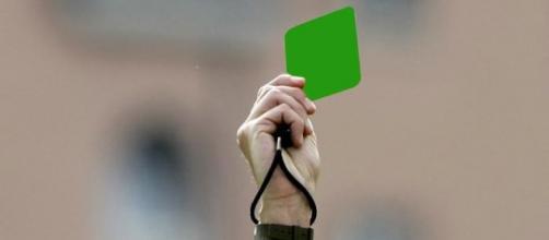 Una simulazione del cartellino verde