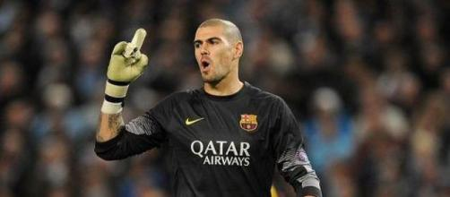 Victor Valdes during his time at Barcelona