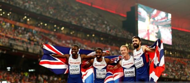 GB men's 4x400m relay team won bronze