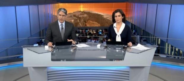 Jornal Nacional fica enorme na Globo