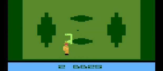 Juego ET. Atari 1982, encontrado en el desierto