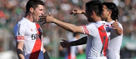 Alario fue el héroe de River con un hat-trick.