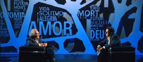 Buenafuente con Punset en un programa de TV3.