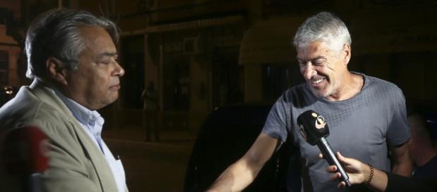 José Sócrates de regresso a casa.