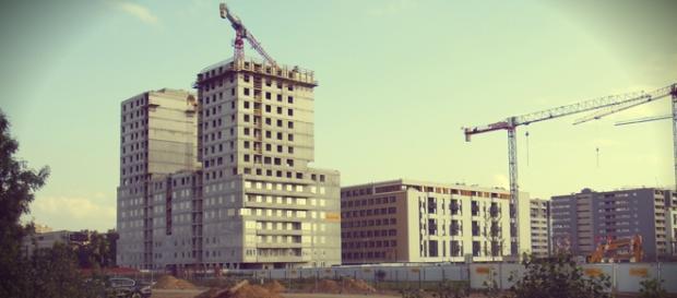 Powstające na pasie starego lotniska osiedle AVIA.