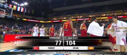 Final del encuentro entre Turquía y España.
