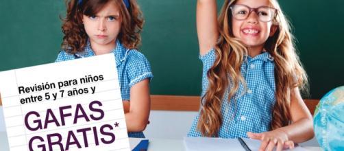 gafas gratuitas para niños entre 5 y 7 años