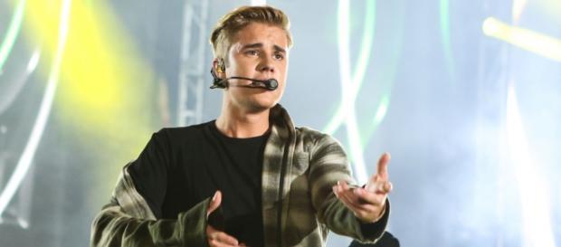 Justin Bieber durante show do Wango Tango 2015