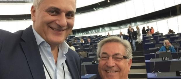 L'Europarlamentare Nicola Caputo con K. Vella