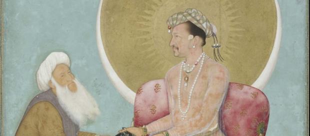 Miniatura del XVII s. il sultano e un maestro Sufi
