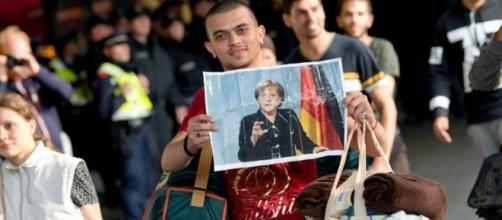 Inmigrante sirio llegando a Alemania