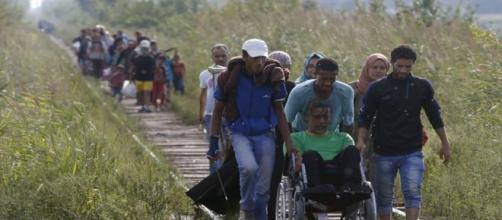 Migrants hoping for asylum in the EU.