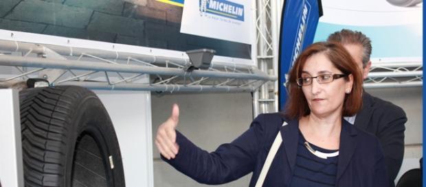 La directora de Michelin en Aranda, Mª Paz Robina