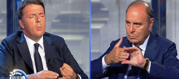 Renzi e Vespa parlano di pensioni anticipate.