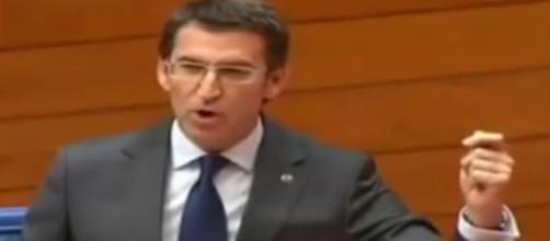 Alberto Núñez Feijoo en el Parlamento de Galicia
