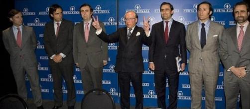 José María Ruíz Mateos junto a sus hijos varones.