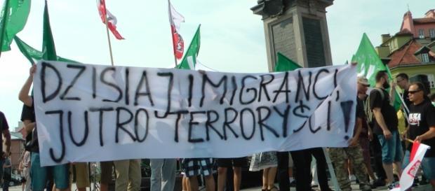 Demonstracja antyimigrancka w Warszawie