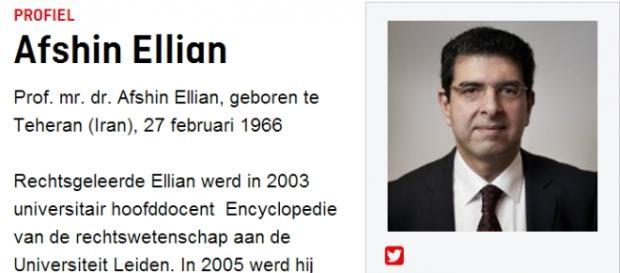 Prof. Afshin Ellian - ze strony tygodnika Elsevier