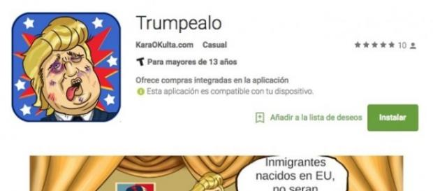 Truempelao, videojuego contra Donald Trump