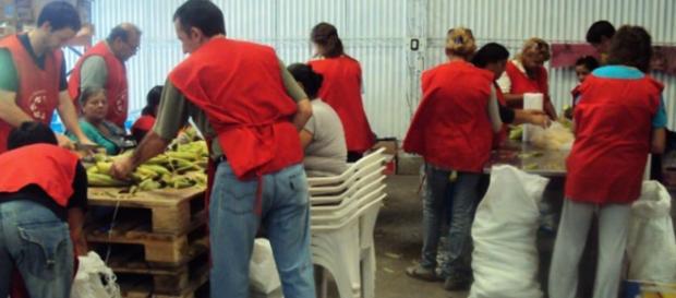 Voluntarios del Banco Alimentario de La Plata