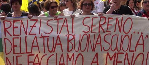 Corteo di docenti in agitazione sindacale