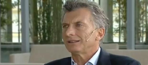 Mauricio Macri en una entrevista a Telefe