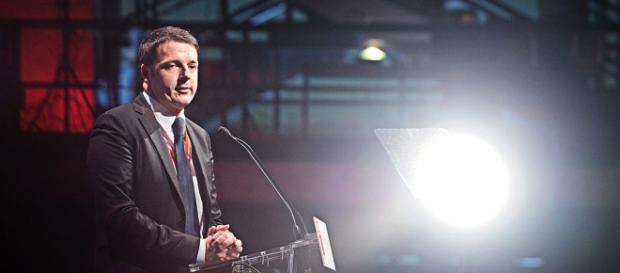 Renzi durante il discorso di fine anno.