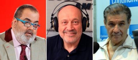 Jorge Lanata, Alfredo Leuco y Víctor Hugo Morales