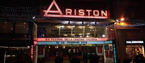 L'ingresso del Teatro Ariston di Sanremo.