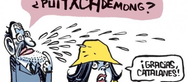 Chiste sobre cómo pronunciar Puigdemont correcto.