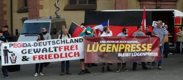 """""""Lying media"""", says Germany's far right."""