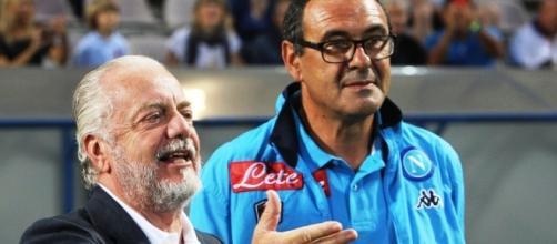 Aurelio De Laurentis e Maurizio Sarri