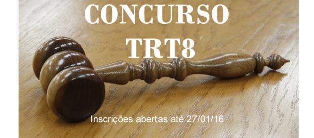 Concurso do TRT8 está com inscrições abertas