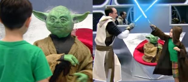 Crianças participaram de pegadinha sobre Star Wars