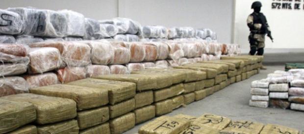 Maxi sequestro di droga della polizia messicana