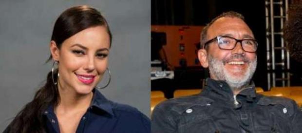 Paolla Oliveira e diretor Papinha estão juntos.