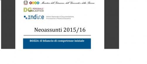 Bilancio delle competenze neoassunti 2015/26 Miur