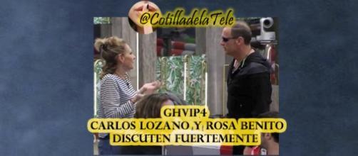 Carlos y Rosa discuten fuetemenete